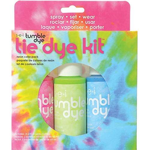 S.E.I. Neon Tie Dye Kit, Fabric Dye Spray, 3 Colors