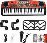 Teclado de piano para niños, 49 llaves Multifunción Piano electrónico Piano Musical Teclados con micrófono, instrumentos musicales educativos Regalos de juguete para niños de 3 a 8 años. Niñas para ni