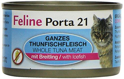 Feline Porta Katzenfutter Feline Porta 21 Thunfisch plus Breitling 90 g, 12er Pack (12 x 90 g)