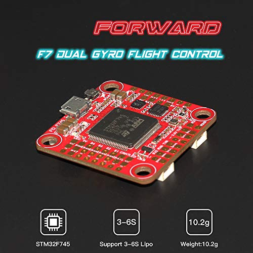 Mobiliarbus Dual Gyro Flight Controller 3-6S mit integriertem GPS-Anschluss für HGLRC Forward F7 FC FPV Racing Drone RC Quadrocopter