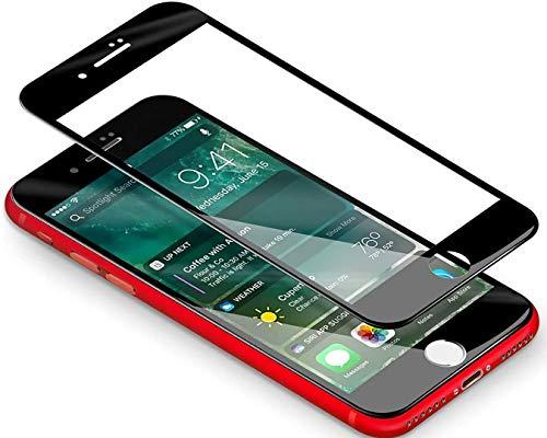 Vetro Temperato Compatibile con iPhone 6 Plus/ 6s Plus[2 Pezzi], Pellicola Protettiva Perfetto - Copertura Completa - 9H Durezza, Antiolio, Scratch e Bubble Free Phone - iPhone 6 Plus/ 6s Plus Nero