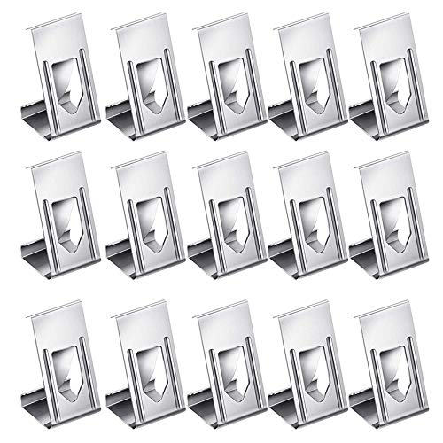 Mogzank 200 Pcs Picture Frame Hanger Clips Photo Frame Metal Spring Turn Clip Hanger 3D Printer Glass Bed Clips for Frame