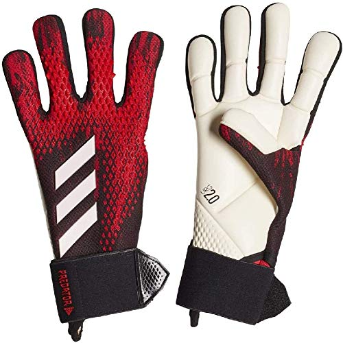 adidas Unisex-Adult Pred Gl Com Glove Liners, Black/Active Red, 9