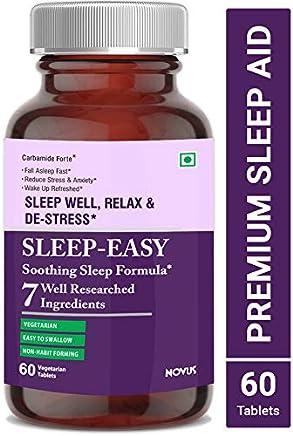 Carbamide Forte Sleeping Aid Pills for Deep Sleep with Melatonin & Valerian – 60 Veg Tablets