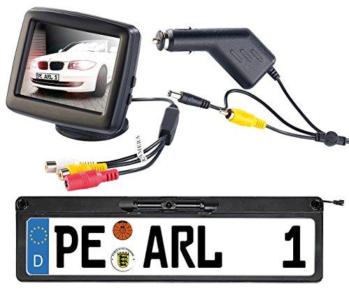 Lescars Funk Rückfahrkameras: Funk-Rückfahrkamera PA-500N, LCD-Farbmonitor 3,5
