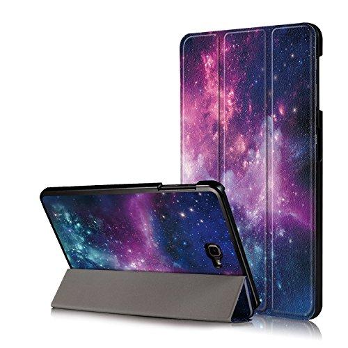 """Xuanbeier Custodia per Samsung Galaxy Tab A 10"""" 1 2016 SM-T580/T585 (A6) Ultra-Sottile Cover con Funzione Supporto e Auto Sonno/Sveglia,Nebulosa"""
