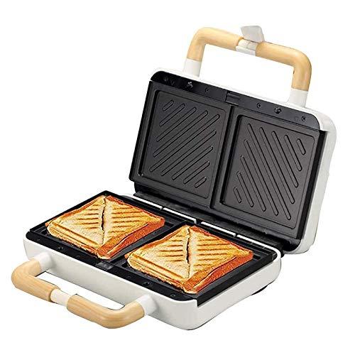 CHENJIA Sándwich/máquina, Fabricante de gofres 3 en 1, 2 tostadoras de Rebanada Ajustable a Temperatura y Placa Antiadherente, se Puede Utilizar para Hacer Waffles, sándwiches y Otro Desayuno