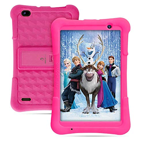 Dragon Touch Y80 8 inch Kids Tablets 2GB RAM 16GB ROM with Disney Story Contents, Android 8.1 Tablets, Kidoz Pre-Installed WiFi Android Tablet, Kid-Proof Case, Pink