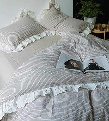 SUSYBAO-3-Pieces-Ruffle-Duvet-Cover-Set-European-Rural-Princess-Bedding-1-Duvet-Cover-2-Pillow-Shams-Sweat-Romantic-Solid-Luxury-Elegant-Duvet-Cover-Set-for-Girls