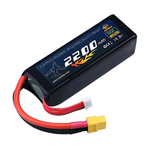 melasta 4S 14.8V LiPo Battery 2200mAh 50C RC Lipo Battery with XT60 Plug for RC Airplane Helicopter Quadcopter Vehicle Boat