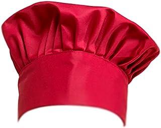 IPOTCH Gorro Plano de Cocinero Sombrero de Camarero Casquillo de Panadero de Algod/ón Transpirable para Restaurante Cafeter/ía Cocina