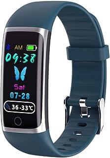 LBFXQ Fitness Tracker HR, Rastreador De Actividades Podómetro Tasa De Corazón Monitor De Sueño, Reloj Inteligente Teléfonos Compatibles Natación Impermeable