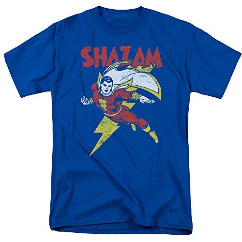 Trevco Camiseta masculina Dc Shazam Stepping Out adulto, Azul royal, XXG