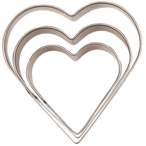 Städter terterrassen hart 3-delig glad roestvrij staal 3, 4 & 5 cm Nr 956187