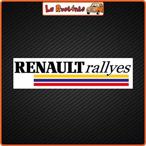La Ruotante Stickers Renault Rallyes R4 5 6 9 11 14 15 16 17 18 19 21 25 Clio Williams Elf 11x3 Cm