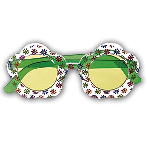 NET TOYS Lunettes de Hippie Vert Lunettes de fête Lunettes Hippie Lunettes de déguisement Mardi Gras Carnaval fête années 70