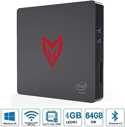 VGROUND MII Mini PC con processore Intel Apollo Lake Celeron N3350 Supporto per Windows 10, Grafica HD 500, 4 GB LPDDR4 + 64GB Rom, BT4.0, 4K, 1000 Mbps LAN, 2.4G + 5.8G Dual WiFi - Confronta prezzi