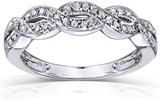 Best white gold braided ring Reviews