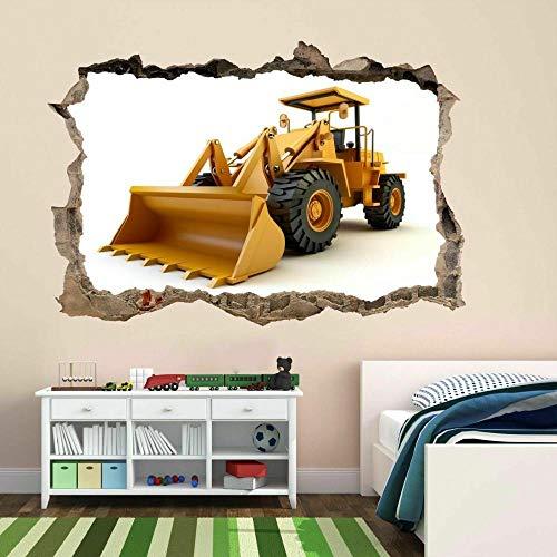 Pegatinas de pared Cargador frontal Etiqueta engomada del arte de la pared Calcomanía mural Habitación de los niños Decoración de la oficina en casa Decoración infantil de pared