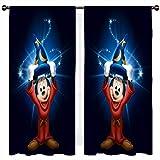 SSKJTC Fantasia Mickey Mouse Mago - Cortinas aisladas súper gruesas para sala de estar (100 x 100 cm)
