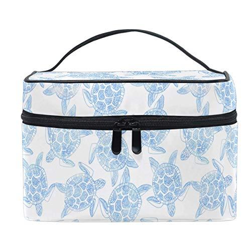 Cute Sea Turtle Makeup Bag Handbag Bag Ocean Animal Cartoon Cosmetic Bag Toiletry Travel Brush Train Case for Women Zip Carrying Portable Multifunctional Organizer Storage Pouch Bags Box