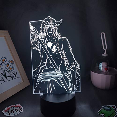 Figura de Anime Bleach Ulquiorra Cifer Lámparas 3D Ilusión Led Luces de noche Regalo de neón fresco, para amigos Manga Decoración de mesa de dormitorio
