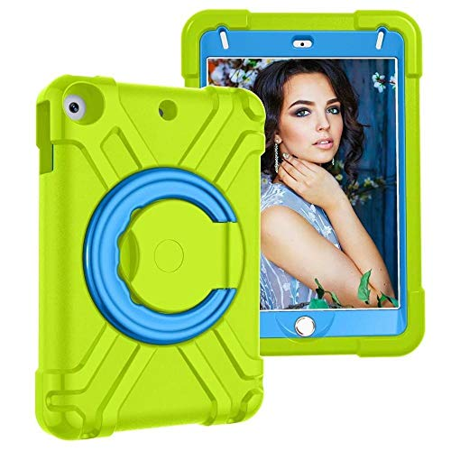 GHC PAD Cases & Covers For iPad MI-NI 4 MI-NI 5th 2019, High Duty Children Cover Kids Case Shockproof EVA 360 Stand Holder Case for iPad MI-NI 4 5 7.9'' (Color : Green Blue)
