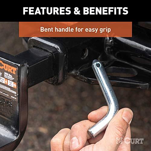 CURT 21400 Trailer Hitch Pin & Clip, 1/2-Inch Diameter, Fits 1-1/4-Inch Receiver