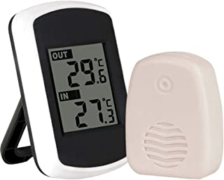 xdrfxrghjku Termómetro De Temperatura Interior Exterior LCD Inalámbrico Termómetro Digital Instrumentos Electronic O Medid...
