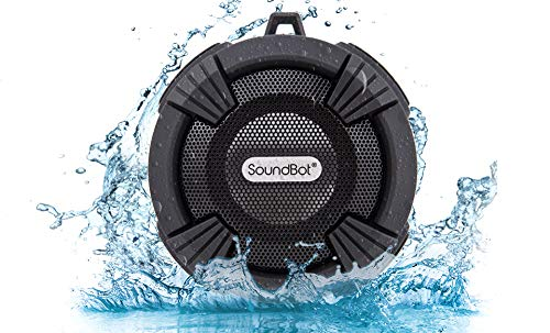 SoundBot SB512-PRO HD Premium Water & Shock Resistant Bluetooth Wireless Shower Speaker, Hands-Free Portable Speakerphone w/ Hi-Fi Output, Built-in Mic, 6Hrs Playtime