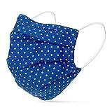 tanzmuster ® Behelfsmaske waschbar für Erwachsene - 100% Baumwolle OEKO-TEX 100 mit Nasenbügel...