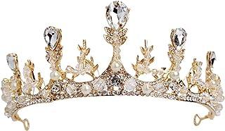 RKY Ragazze Corona, for Bambini Corona Copricapo Crown Princess di Cristallo Fascia Gold Show Passerella Hosting Compleann...