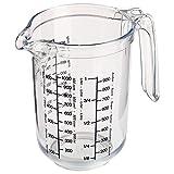 Westmark Recipiente de medición con Escalas multilingües y Diferentes Unidades de Medida, Capacidad: 1 litro, Plástico, Gerda, Transparente, 30682270, 1 l