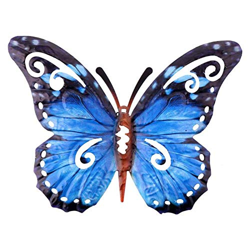 1 Pc Vivid Butterfly Lifelike Decorative Stylish Hanging Ornaments Metal Butterfly Wall Decor for Decoration Garden