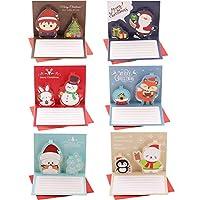 6枚 ポップアップ クリスマスカード 3D 立体 クリスマス カード POP UP クリスマス ギフト カード DIY クリスマスグリーティングカード 10CMX8CM 封筒付き 6枚セット by A-Focus