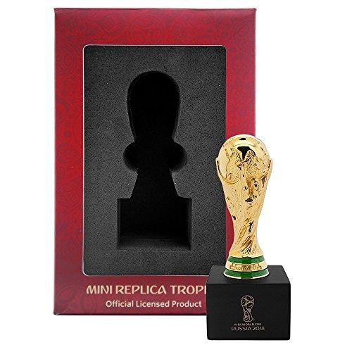 Trofeo de réplica de la Copa del Mundo 2018, 150 mm, con pedestal de madera