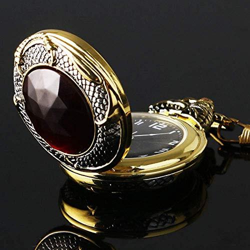 INSTO Colgante, Collar de Inserción para Hombre Reloj de Bolsillo Rojo Granate regalo creativo/A