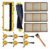 Dasing Filter- und BüRsten Zusatz Kit Kompatibel für Shark ION Robotern RV750, RV720, RV700, RV750C, RV755 Ersatz Teile Nummer RVFFK700