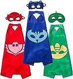 Migii Juego de 3 pijamas de superhéroes para niños, ideal para cumpleaños infantiles, carnaval o carnaval