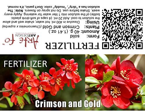 dgdfg Crimson and Gold Dünger Chaenomeles speciosa, Chinesische Quitte, Japanische Quitte reicht für 20 Liter