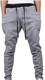 MogogoMen Drawstring Harem Elastic Drawstring Sports Plus-Size Trousers