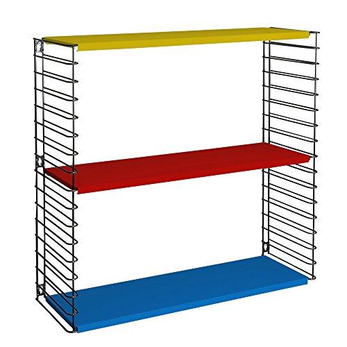 Metaltex - Estantería modular, metal, 3 estantes, 70 x 21 x 68 cm, tricolor