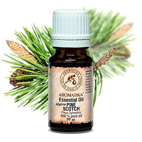 Aceite Esencial de Pino Enano - 50ml - Pinus Mugo - Aromaterapia - Aroma Coníferas - Aceites Puros para Cuerpo - Difusores - Aliviar Estrés - Mejorar Humor - Sauna y Baño