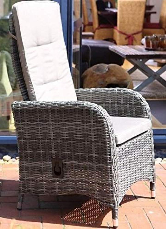 Destiny Hochlehner Sessel Bahia Grau Komfortsessel Verstellsessel Gartensessel