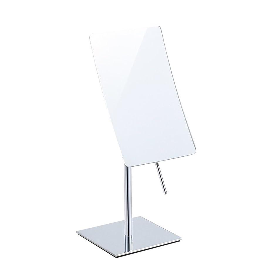 サッカーアイザック負担13 * 21 cmフレームレス長方形化粧鏡、バスルームシェービングのための3倍の拡大ビューティーミラー、360°回転バニティミラー滑り止めベース。