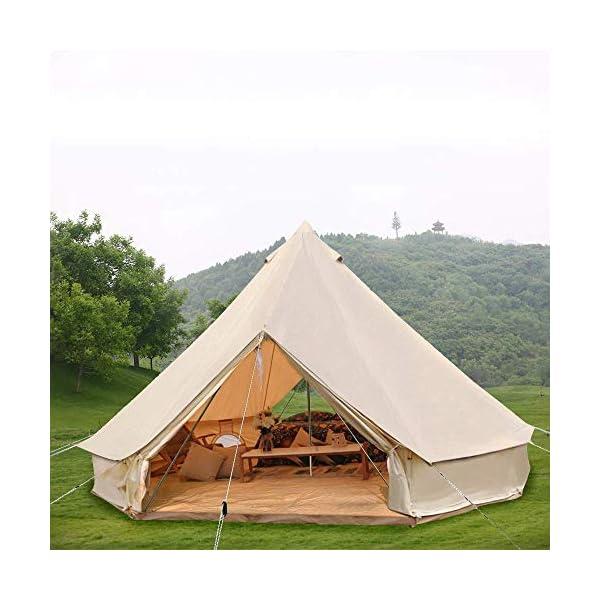 Canvas Bell Tent Gazebo Outdoor Event Canopy Sun Shelter Tarp Garden Event Tents 5