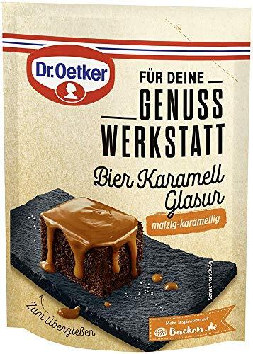 Dr. Oetker Genuss Werkstatt Bier Karamell Glasur, malzig-karamellig, 5er Pack (5 x 125 g)
