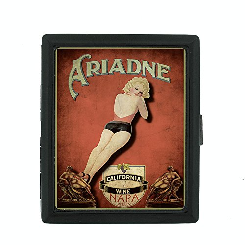 Perfection In Style Metal Cigarette Case Vintage Wine Ads Design 023