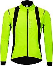 WOSAWE Fietsjas voor heren, softshell, winddicht, reflecterend, MTB-fietskleding voor herfst en winter