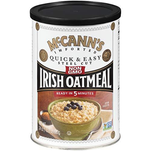McCann's Irish Oatmeal, Quick & Easy Steel Cut Oats, 24 Ounce (Pack of 12)